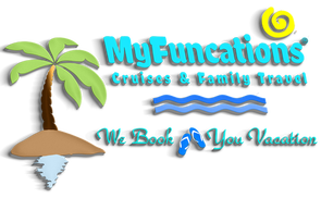 MyFuncations Cruises & Family Travel / my•fun•ca•tions, n. ~  Specializing in cruises & all-inclusive vacations. Your Ultimate Renewable Resource® in managing your travel plans at no cost to you; MyFuncations.com